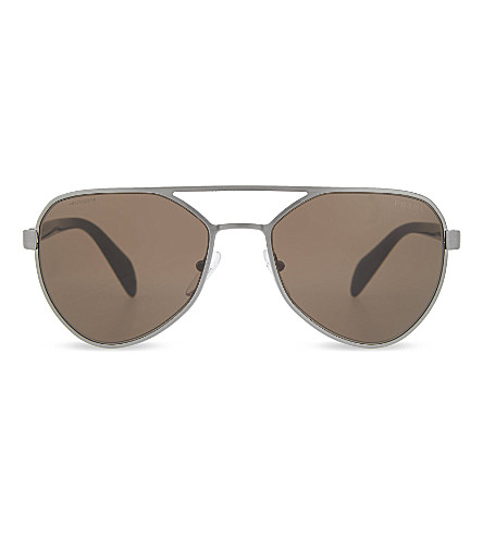 PRADA PR27N round sunglasses (Brown
