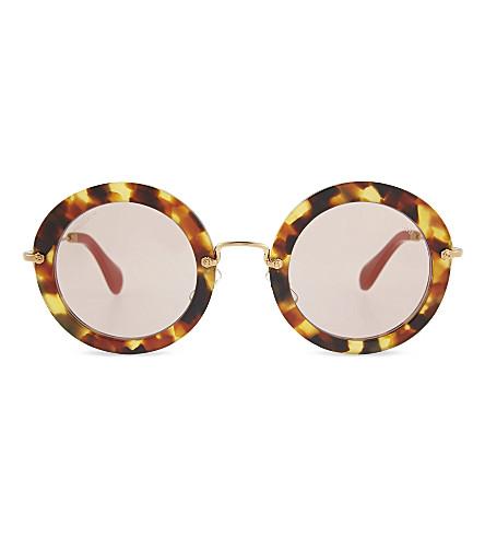 MIU MIU Round sunglasses (Sand havana