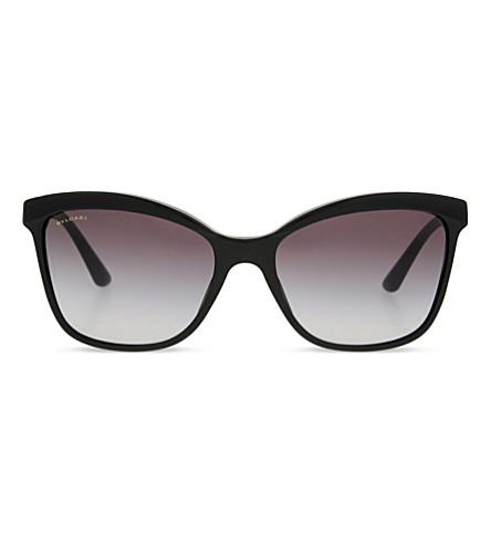 BVLGARI BV8163 Giardini Italiani cat eye-frame sunglasses (Havana