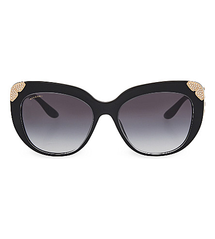 BVLGARI 8162 cat eye sunglasses (Black