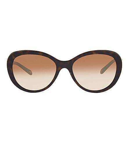 TIFFANY & CO TF4113 Havana oval sunglasses (Havana