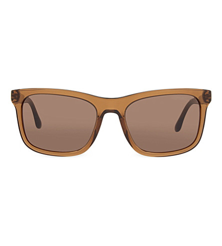 EMPORIO ARMANI AR8066 square sunglasses (Brown