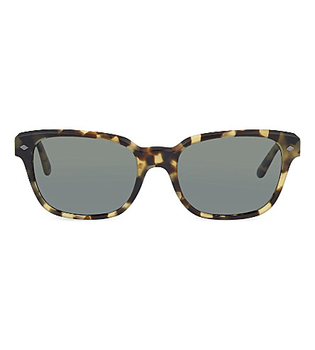 EMPORIO ARMANI AR8067 rectangle sunglasses (Green