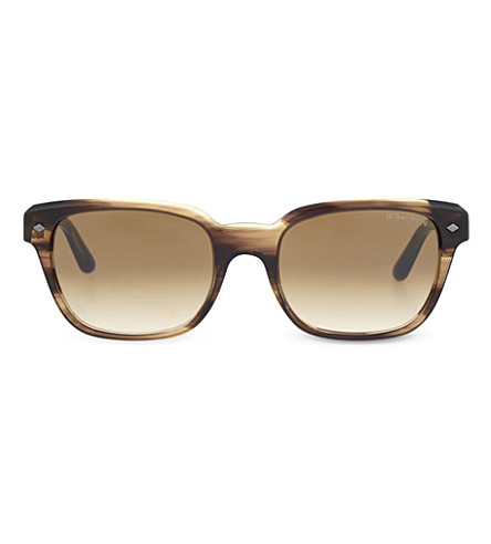 EMPORIO ARMANI AR8067 rectangle sunglasses (Brown