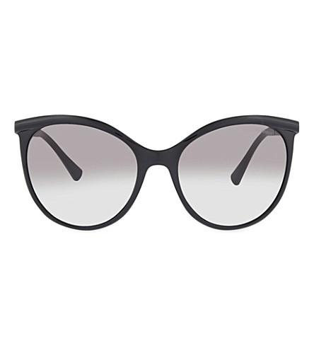 EMPORIO ARMANI AR8070 round sunglasses (Black