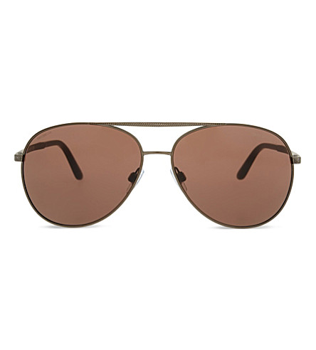 GIORGIO ARMANI AR6030 aviator sunglasses (Brown