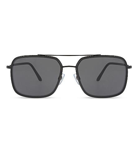 GIORGIO ARMANI AR6031 Frames of Life square-frame sunglasses (Black