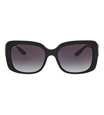 BVLGARI 8167 rectangle sunglasses (Black