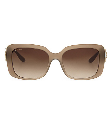 BVLGARI 8167-B Rectangle sunglasses (Light+brown