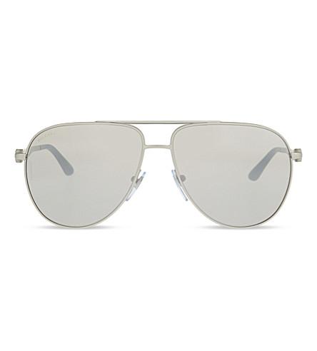 BVLGARI BV5037 Diagono aviator sunglasses (Matte+silver