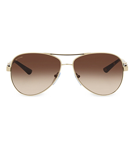 BVLGARI 6080-B aviator sunglasses (Gold
