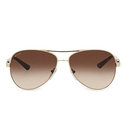 BVLGARI 6080-B aviator sunglasses (Gold