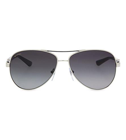 BVLGARI 6080-B aviator sunglasses (Silver