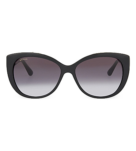 BVLGARI Cat eye sunglasses (Black