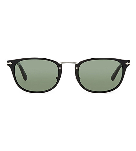 PERSOL 3127 rectangle sunglasses (Black