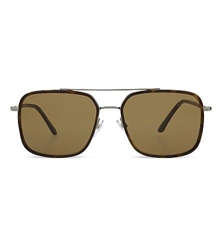 GIORGIO ARMANI Frames of Life square-frame sunglasses (Havana