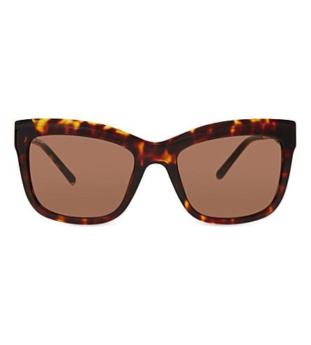 BURBERRY B4207 tortoiseshell square-frame sunglasses (Dark+havana