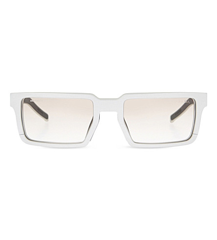 PRADA Pr50s rectangle-frame sunglasses (Brushed+alluminium