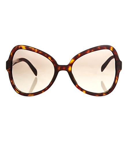 PRADA PR05S butterfly-frame sunglasses (Havana