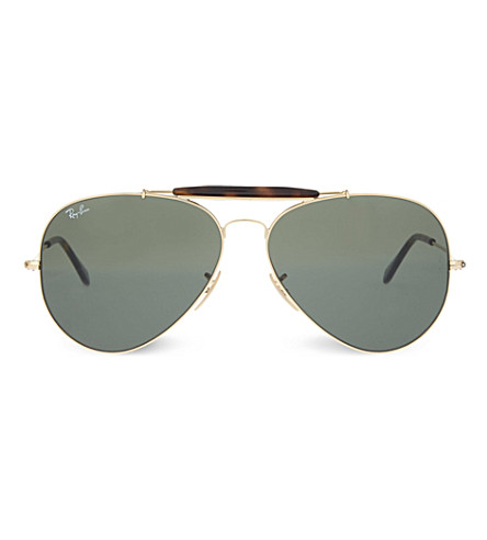RAY-BAN RB3029 gold-toned aviator sunglasses (Gold