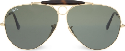 Ray Ban Sunglasses Gold Frame : RAY-BAN - RB3138 gold-toned frame aviator sunglasses ...
