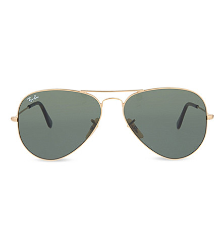 RAY-BAN RB3025 Aviator sunglasses (Gold