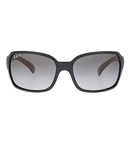 RAY-BAN RB4068 square sunglasses (Matte+black