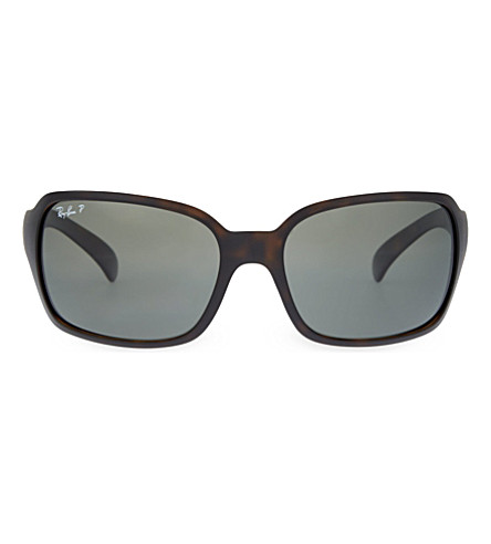 RAY-BAN RB4068 square sunglasses (Matte+havana