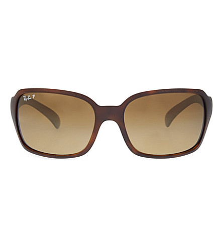 RAY-BAN RB4068 square sunglasses (Matte+light+havana