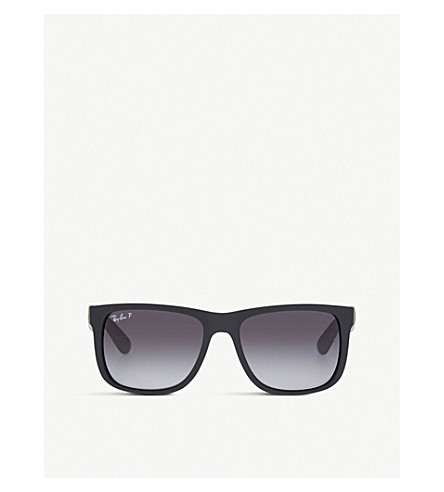 RAY-BAN Square polarised sunglasses (Black+rubber