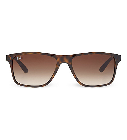 RAY-BAN RB4234 tortoise shell rectangular sunglasses (Havana