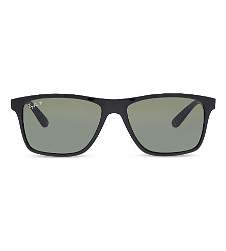 RAY-BAN RB4234 rectangle sunglasses (Black