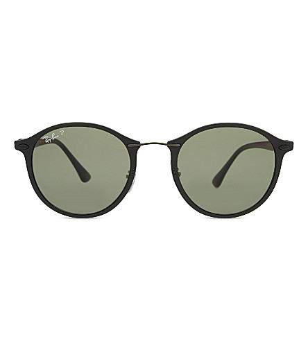 RAY-BAN Rb4242 polarised round sunglasses (Matte+black