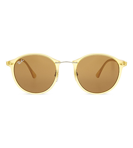 RAY-BAN Rb4242 round-frame sunglasses (Matte+yellow