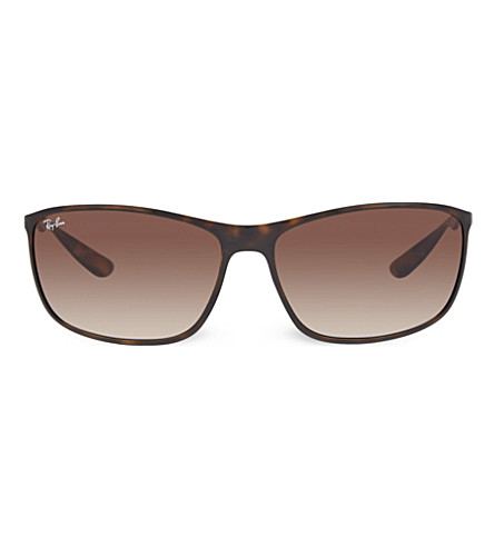 RAY-BAN RB4231 tortoise shell square sunglasses (Havana