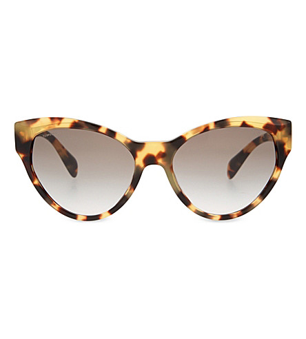 PRADA PR08S cat-eye sunglasses (Medium+havana