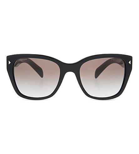 PRADA Pr09s triangle accented square-framed sunglasses (Black