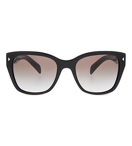 PRADA Pr09s triangle accented square-framed sunglasses (Black