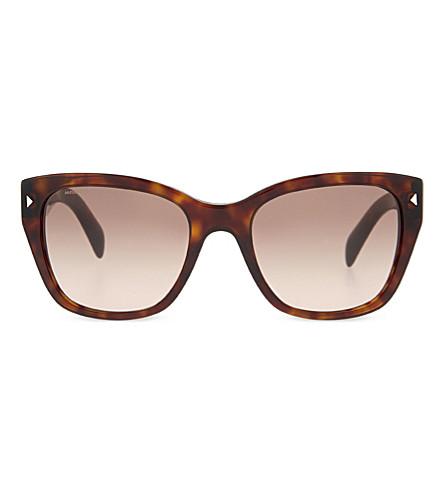 PRADA Pr09s square-frame sunglasses (Havana