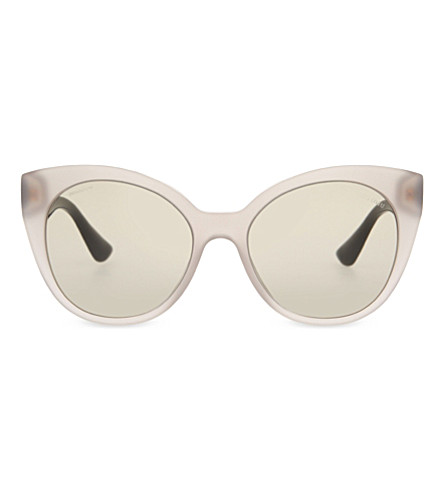 MIU MIU MU07RS The Collection cat eye-frame sunglasses (Opal