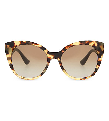 MIU MIU MU07RS The Collection cat eye-frame sunglasses (Light+havana