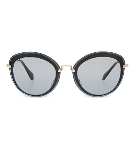 MIU MIU MU50RS Noir cat eye-frame sunglasses (Grey