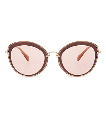 MIU MIU MU50RS Bordeaux cat eye-frame sunglasses (Bordeaux