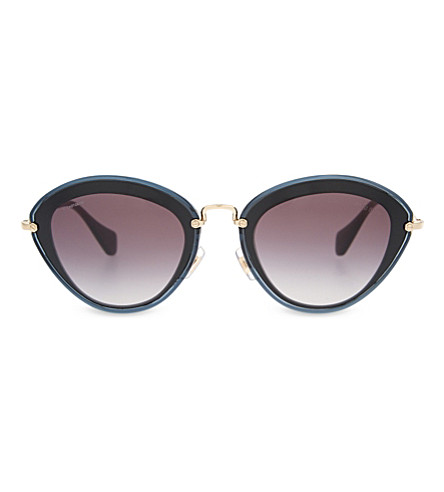 MIU MIU MU51RS Noir cat eye-frame sunglasses (Black
