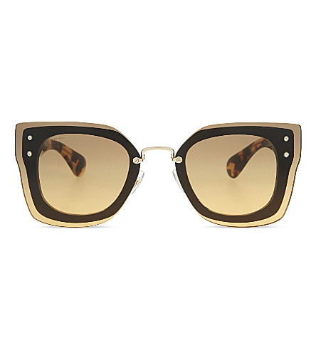 MIU MIU MU04RS Reveal square-frame sunglasses (Black