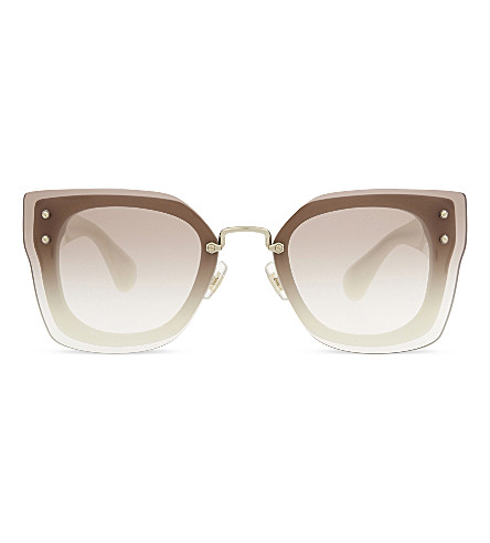 MIU MIU MU04RS square sunglasses (Ivory