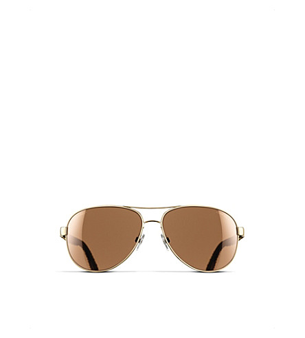 CHANEL Pilot sunglasses (Gold