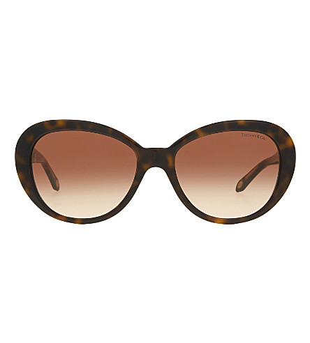 TIFFANY & CO TF4118B oval-frame sunglasses (Brown
