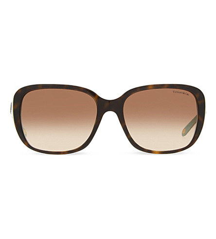 TIFFANY & CO TF4120B Havana square-frame sunglasses (Havana
