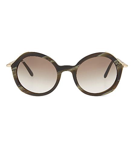 GIORGIO ARMANI Ar8075 round-frame sunglasses (Green